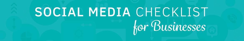 2016 Sensible social media checklist
